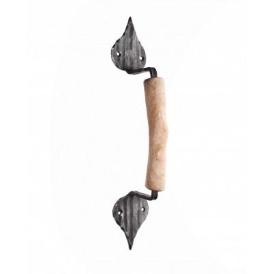 Ручка дверная с деревянной вставкой HC-494