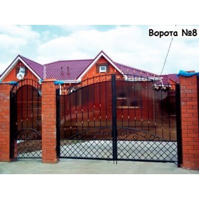 Ворота для дома и коттеджа N8
