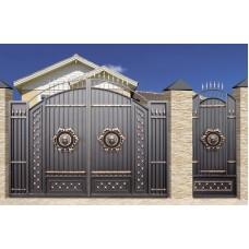 Ворота античные со львом + монтаж